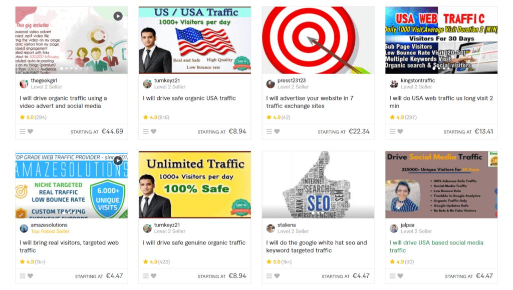 avoid buying traffic on fiverr